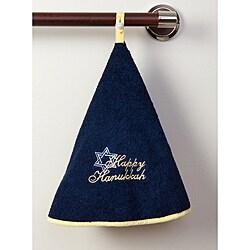 Happy Hanukkah Terry Cotton Circular Hand Towels (Set of 2)
