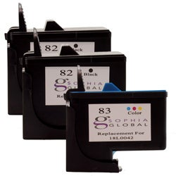 Lexmark 82/83 Ink Cartridge Combo (Pack of 3) (Remanufactured)