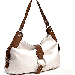 Two-tone Ring Front Flap with Magnet Hobo