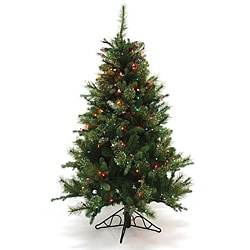 Good Tidings 96283 4.5-foot Slim PE Nordmann Fir Blue Christmas Tree