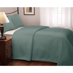 Roxbury Park Teal Quilted King-size Coverlet