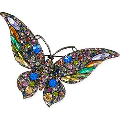 Multi-color Crystal Stones Butterfly Brooch