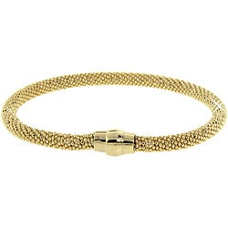 Eternally Haute Yellow Gold over Silver Mesh Bracelet