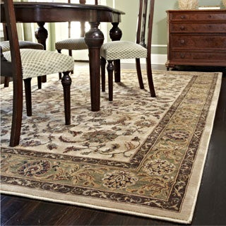 "Dorchester Beige/ Green Powerloomed Rug (3'9"" x 5'6"")"