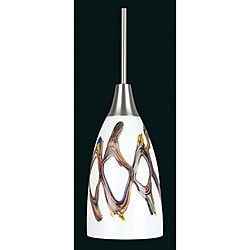Satin Nickel One-light Mini Pendant