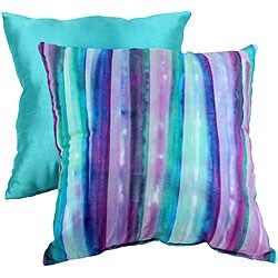Pillow Perfect Purple/ Green Throw Pillow