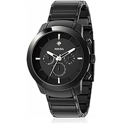 Fossil Men's 'Dress' Black Plated Stainless Steel Watch