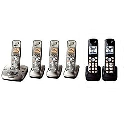 Panasonic KX-TG4036N/B DECT 6.0 Plus Cordless Phone System with 6 Handsets (Refurbished)