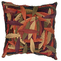 LNR Home Multi-colored Zant Leaves 18-inch Pillow