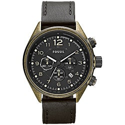 Fossil Men's 'Flight' Leather Strap Chronograph Watch
