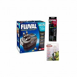 Fluval 405 25-Gallon Aquarium Filter with Heater Kit and Thermometer