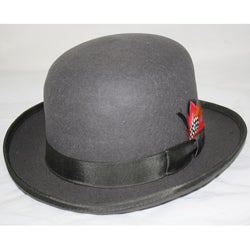 Ferrecci Men's Gray Wool Bowler Hat