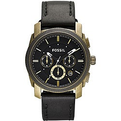 Fossil Men's 'Machine' Leather Strap Chronograph Watch