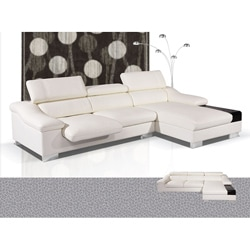 Emma 2-piece Ivory Sectional Sofa and Chaise Set