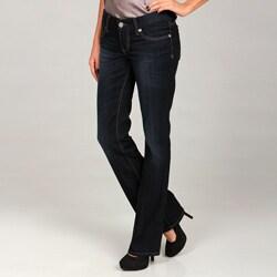 Seven7 Women's D Angel Blue Metallic Detail Jeans