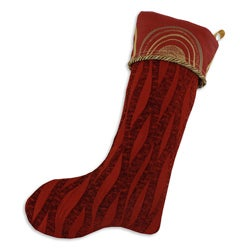 Agate Claret-myth Rust Lined Trimmed Holiday Stocking