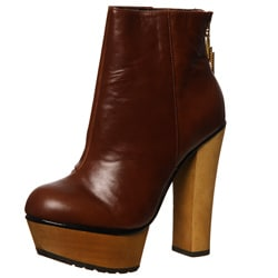 Betsey Johnson Women's 'Maybill' Cognac Platform Booties