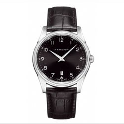 Hamilton Men's Jazzmaster Thinline Black Dial Watch