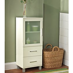 Frosted Pane 2 Drawer Linen Cabinet
