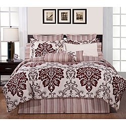 Country Ridge Cal King-size 12-piece Bed in a Bag with Sheet Set