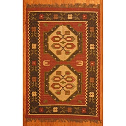 Indo Tribal Kilim Wool Rug (4' x 6')