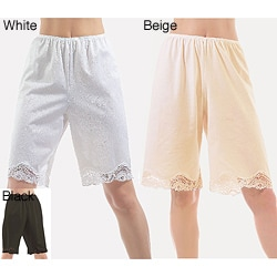 Illusion's Women's Antistatic Lace Details Trouser Slip