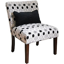 Contemporary Accent Chair with Pillow