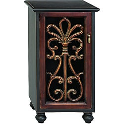 Tuscan Scroll Door Cabinet Accent Table