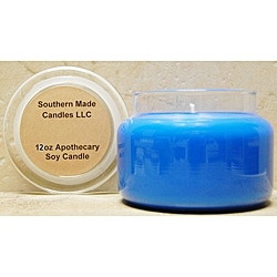 Southern Made Candles 12-oz Apothecary Beach Linen Soy Candle