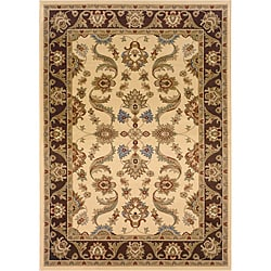 Brown/Cream Oriental Rug (5'3 x 7'5)