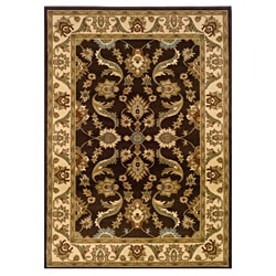 Brown/Cream Oriental Rug (7'9 x 9'9)