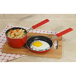 Mini saucepan 3/4QT and mini frypan set with non stick coating 5 1/2