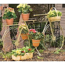 Panacea Whimsical Bicycle Plant Stand, Antique Willow