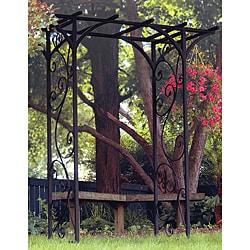 Panacea Black Garden Arbor With Vines