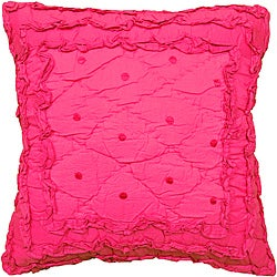 Pretty Pink Ruffled Decorative Pillow