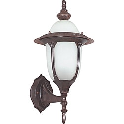 One Light Rubbed Bronze Wall Lantern