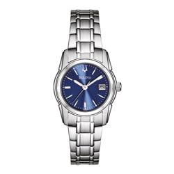Bulova Women's Stainless Steel Blue Dial Watch