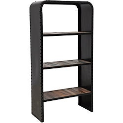 Brix Dark Bronze Bookshelf