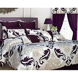 Elegance 12-piece Queen-size Bed in a Bag with Deep Pocket Sheet Set
