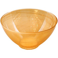 Allure Alabaster White/Amber Salad Bowl