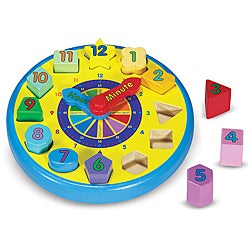 Melissa & Doug Shape Sorting Clock Activity Set