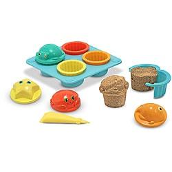 Melissa & Doug Seaside Sidekicks Sand Cupcake Play Set