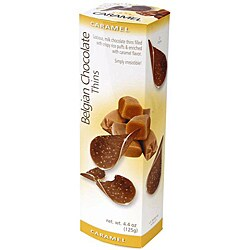 Belgian Chocolate Thins - Caramel, Case of 12