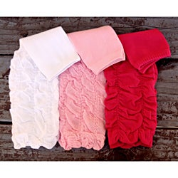 Three-piece Scrunchy Polyester/Spandex Leg Warmer Set