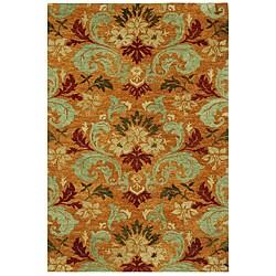 Hand-tufted Orange Wool Rug (5'6 x 8'6)