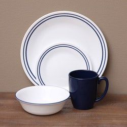 Corelle Livingware Breathtaking Blue Beads 16-piece Dinnerware Set