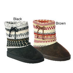I-Comfort Women's 'Oakley' Fairisle Knit Boot