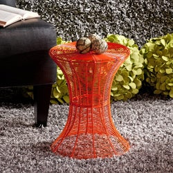 Cordoba Indoor/Outdoor Orange Round Side Table