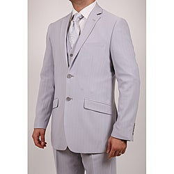 Ferrecci's Men's Grey Two-button Slim Fit Three-piece Suit
