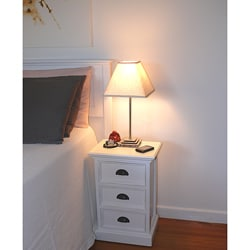 Interior White 3-drawer Nightstand